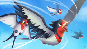 [Pokemon OR/AS  Tribute] Taillow and Swellow by Brex5