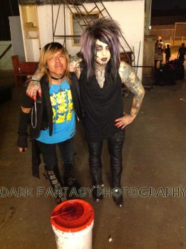 Me and Dahvie Vanity on Set of Damaged by xxXSketchBookXxx