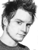 Pencil Drawing of Elijah Wood by Valyanna8361