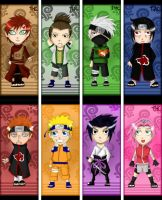 Naruto bookmarks by TheHeavenCafe