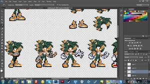 Spriting a new FC a friend gave me c: by L8rlozers