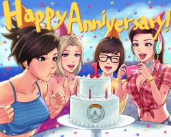 Happy Overwatch Anniversary by umigraphics