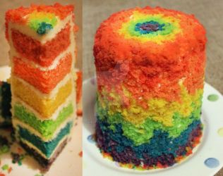 Rainbow Cake by KirstysCakes