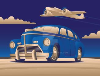 Art Deco with Plane by CRWPitman