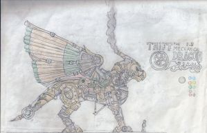 THiFF the Mechanical Dragon 1.2 in color by shadowshot9
