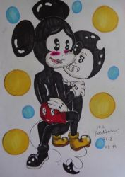 Bendy X Mickey by westhemime