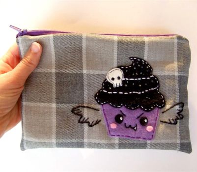 evil vampire cupcake pouch by yael360