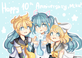 Happy 10th Anniversary Miku by JustARandomPers0n