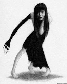 Woman With The Black Arm Of Demon Ghost by Pyramiddhead