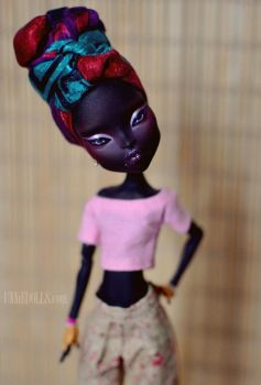 Nneka - OOAK Custom Monster High doll by Katalin89