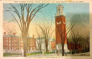 Vintage Providence - The Carrie Tower, Brown U. by Yesterdays-Paper