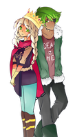 Commission no.7: Lynette and Donny by BlueTopaz01