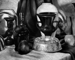 White Conte Still Life by NowinZee