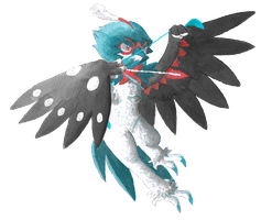 Collab: Shiny Decidueye by PitchBlackEspresso