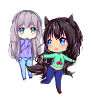 [193] Chibi Commission for MiahWolf by Luceve13