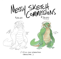 Outdated Commissions Sheet by GreekCeltic