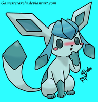 Commission-Glaceon by GAmesterAxela
