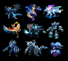 More Pokemon Fusions by cat-meff