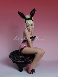 Lisa-Playmate Bunny PinUp OOAK Sculpture by bornbrightdolls