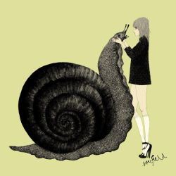 girl and snail by somefield