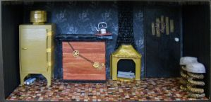 Steampunk House Kitchen fullview by Kyle-Lefort