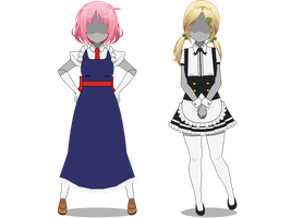 Maid Outfits (Kisekae Outfit Exports) by OpalCheesecake