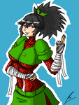 Christmas Ninja with underboobs by borockman