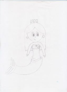 Mermaid Emily :uncolored: by AwkwardArtist-chan