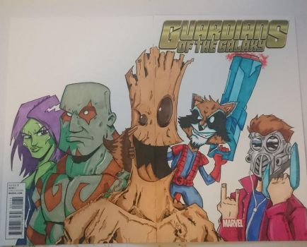 Guardians of the Galaxy Blank Commission by DerFanboy