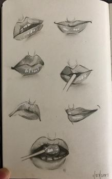 Lips Practice by Shas123