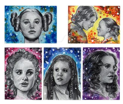 Watercolour Sketch Cards Star Wars