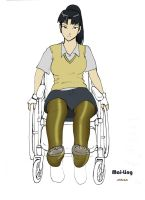 Mai Ling in Wheelchair by DaneBainbridge