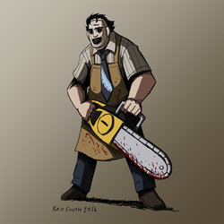 HALLOWEEN 2016 Day 9: Leatherface by KrisSmithDW