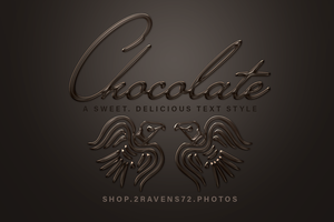 Chocolate Text Tutorial Project by kwhammes