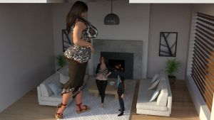 Giantess Mother talk with her children 1 by Big-ELSA