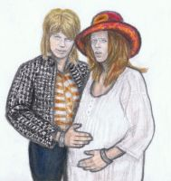David Bowie pregnant by gagambo