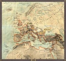 Europe in 400 A.D. by JaySimons
