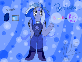 Benitoite (Bismuth + Purple Pearl Fusion) by Foziz105