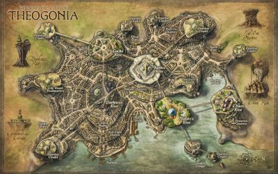 Theogonia City Map for Erevos Campaign by Djekspek