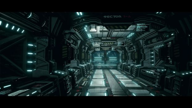 UE4 Modular Sci Fi Corridor Upgraded by L04D3D