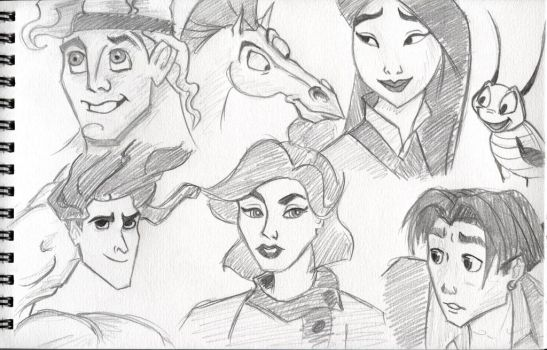 Disney Sketches by marianne481