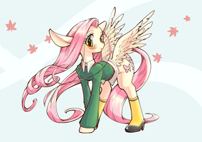 Autumn Fluttershy by conbudou