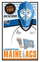 Lewiston MAINEiacs Poster by taggraphics