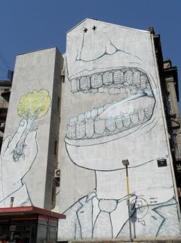 Awesome graffiti on a house in Belgrade (Serbia) by Paul774