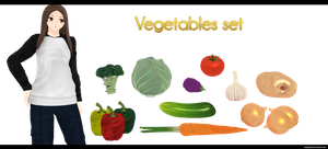 Vegetables Set by kaahgomedl