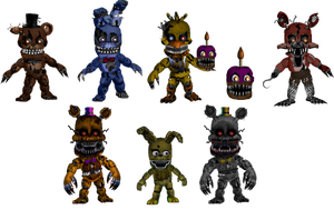 Five Nights at Freddybab's 4 (Wave 1) by BlackFoxPixels