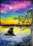 Sailing in the night by Sangeeta1995