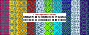 30 seamless patterns for Photoshop pack 2 by CIRQUAN