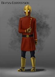 Brass Copperson Character Concept Design by Dinoforce