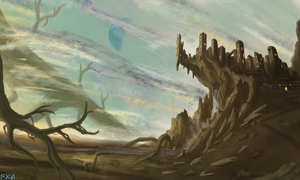 Roots of the Kingdom - Landscape Painting by FrankAtt